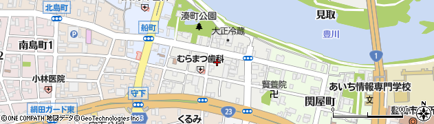 愛知県豊橋市湊町周辺の地図