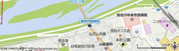 加古川橋東詰周辺の地図