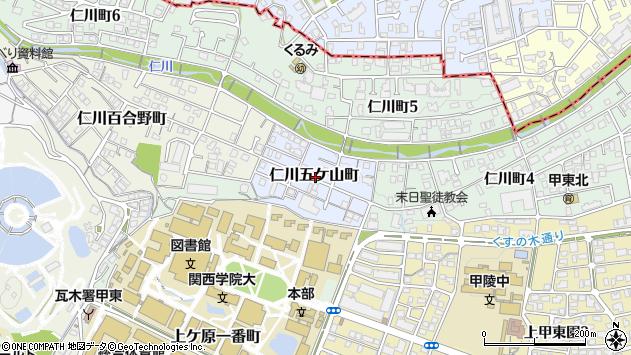 〒662-0814 兵庫県西宮市仁川五ケ山町の地図