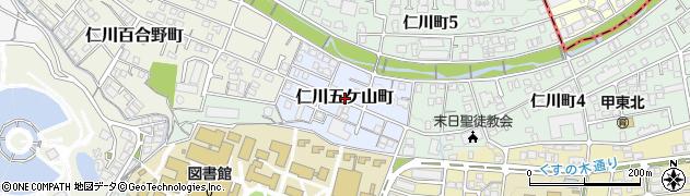 兵庫県西宮市仁川五ケ山町周辺の地図