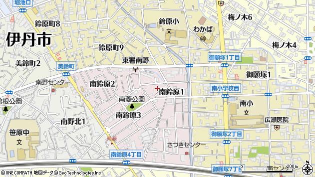 〒664-0883 兵庫県伊丹市南鈴原の地図