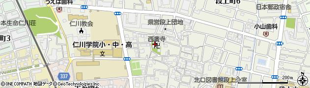 西廣寺周辺の地図