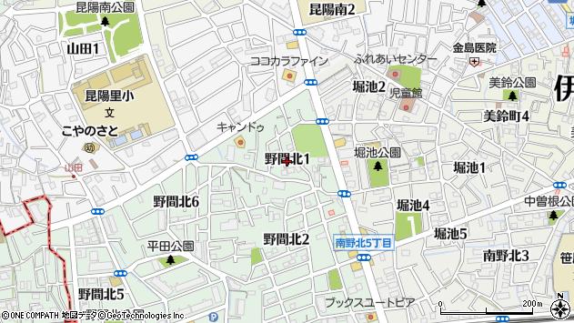 〒664-0875 兵庫県伊丹市野間北の地図