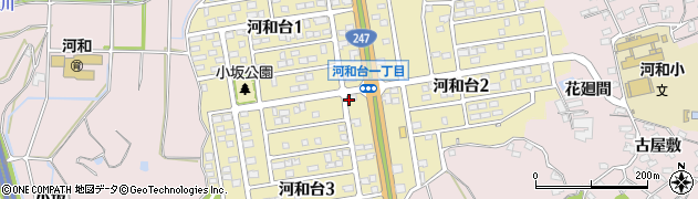 愛知県美浜町(知多郡)河和台周辺の地図