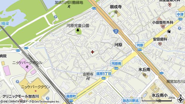 〒675-0067 兵庫県加古川市加古川町河原の地図