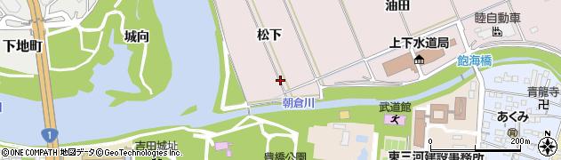 愛知県豊橋市牛川町(松下)周辺の地図