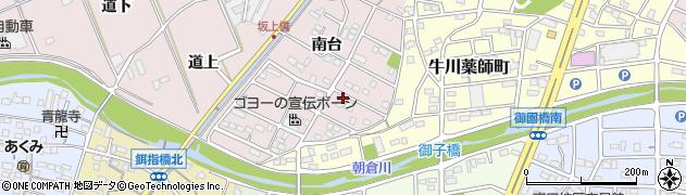 愛知県豊橋市牛川町(南台)周辺の地図
