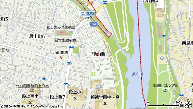 〒663-8002 兵庫県西宮市一里山町の地図