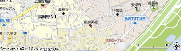 藤森神社周辺の地図