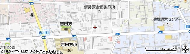 愛知県豊橋市吉川町周辺の地図