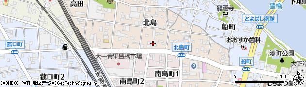 愛知県豊橋市北島町(北島)周辺の地図
