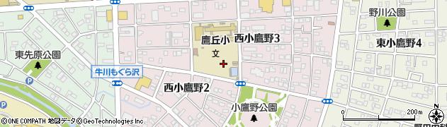愛知県豊橋市西小鷹野周辺の地図