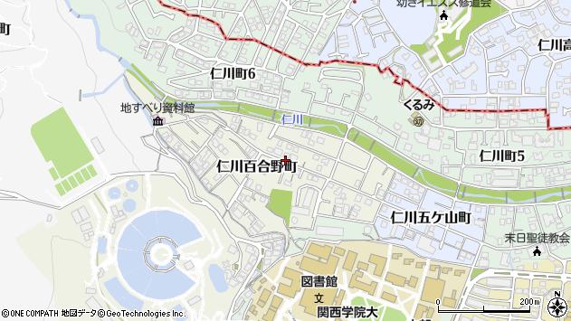 〒662-0815 兵庫県西宮市仁川百合野町の地図