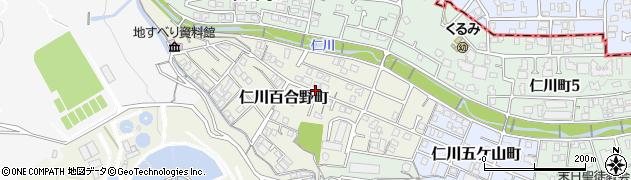 兵庫県西宮市仁川百合野町周辺の地図