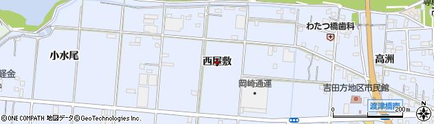 愛知県豊橋市高洲町(西屋敷)周辺の地図