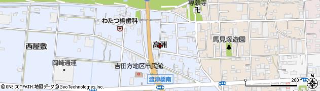 愛知県豊橋市高洲町(高洲)周辺の地図