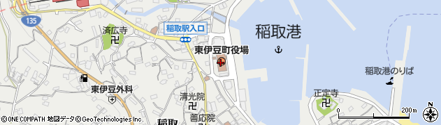 静岡県東伊豆町(賀茂郡)周辺の地図