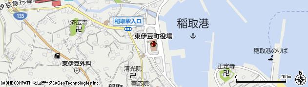静岡県賀茂郡東伊豆町周辺の地図