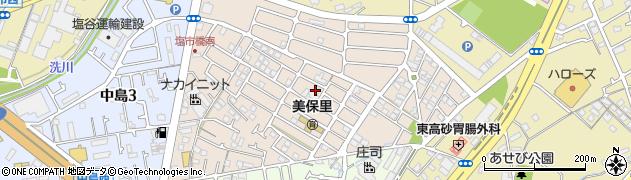 兵庫県高砂市美保里周辺の地図
