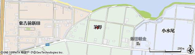 愛知県豊橋市富久縞町(茅野)周辺の地図