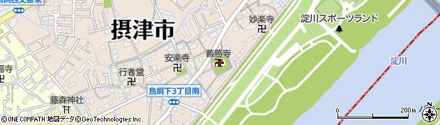 善勝寺周辺の地図