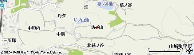 京都府木津川市山城町平尾(坊ノ山)周辺の地図
