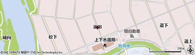 愛知県豊橋市牛川町(油田)周辺の地図