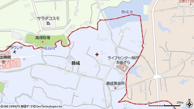 〒651-2301 兵庫県神戸市西区神出町勝成の地図