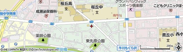 愛知県豊橋市南牛川周辺の地図