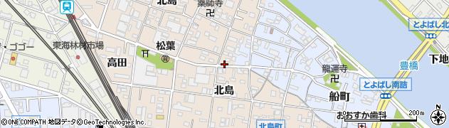愛知県豊橋市北島町周辺の地図