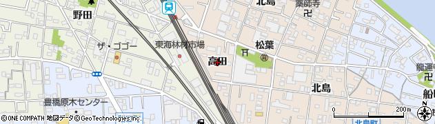 愛知県豊橋市北島町(高田)周辺の地図