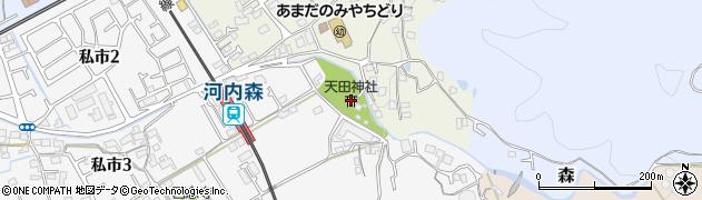 天田神社周辺の地図