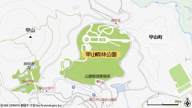 〒662-0001 兵庫県西宮市甲山町の地図