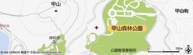 兵庫県西宮市甲山町周辺の地図