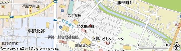 三重県伊賀市平野城北町周辺の地図