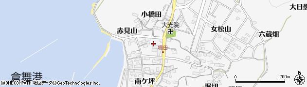 愛知県蒲郡市西浦町(赤浜)周辺の地図