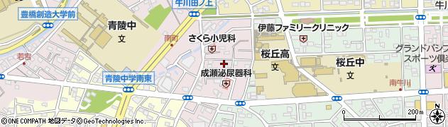 愛知県豊橋市牛川町(田中)周辺の地図