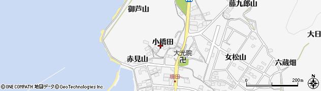 愛知県蒲郡市西浦町(小橋田)周辺の地図