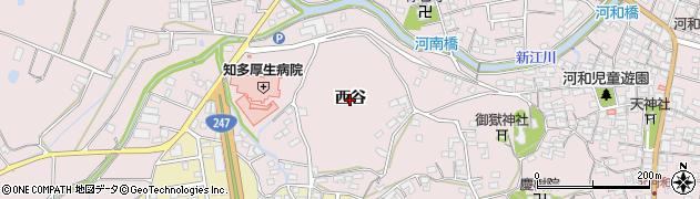 愛知県美浜町(知多郡)河和(西谷)周辺の地図