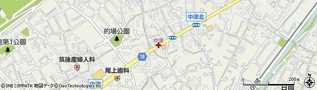 中津周辺の地図