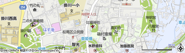 比福神社周辺の地図