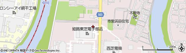 兵庫県姫路市網干区(浜田)周辺の地図