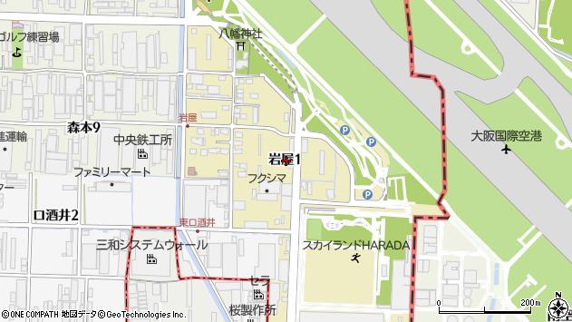 〒664-0843 兵庫県伊丹市岩屋の地図