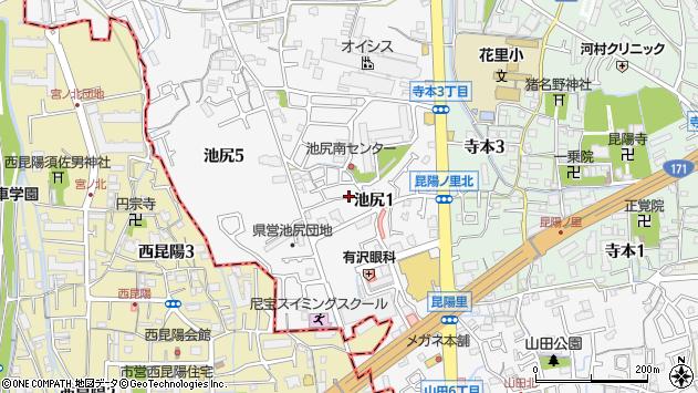 〒664-0027 兵庫県伊丹市池尻の地図