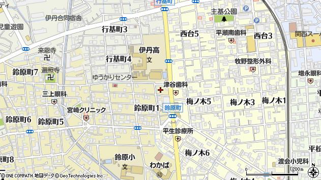 〒664-0882 兵庫県伊丹市鈴原町の地図