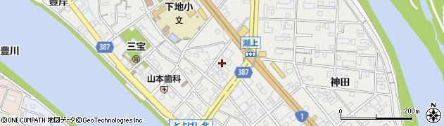 愛知県豊橋市下地町(瀬上)周辺の地図