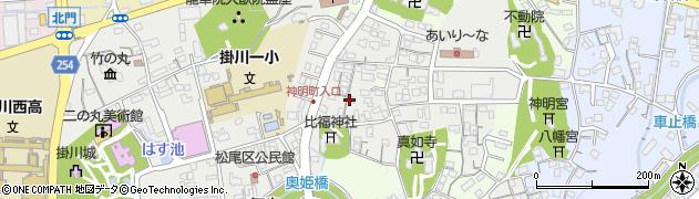 静岡県掛川市掛川周辺の地図