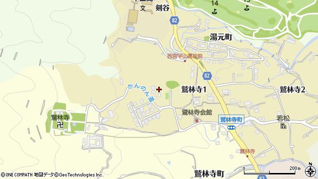 〒662-0004 兵庫県西宮市鷲林寺の地図