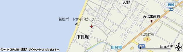 愛知県美浜町(知多郡)野間(下長堀)周辺の地図