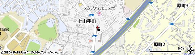 大阪府吹田市上山手町周辺の地図